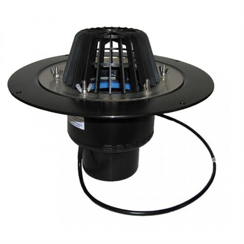 HL 62.1/1 Střešní vtok DN110 s pevnou izolační přírubou a izolační svorkou, s elektrickým ohřevem (10-30W, 230V)