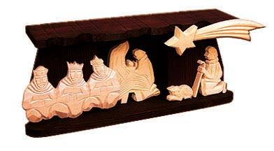 dřevěný vánoční betlém tří Králové