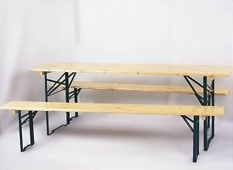dřevěný zahradní nábytek, pivní set délka 2,2 m, šířka 70 cm
