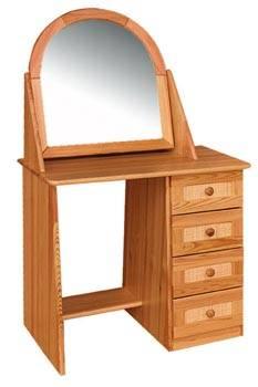 dřevěná toaletka se zrcadlem z masivního dřeva borovice drewfilip 53