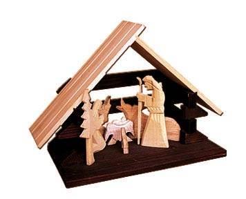 dřevěný vánoční betlém Svata rodina