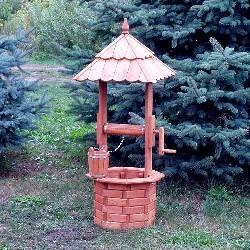 dřevěná zahradní dekorační studna 135