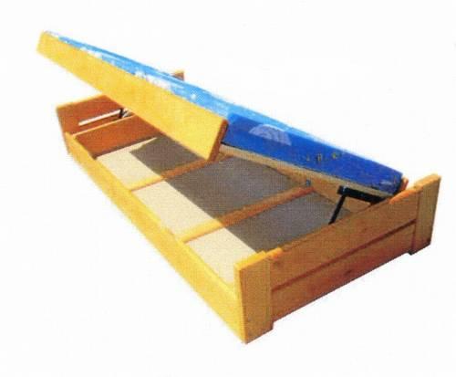 jednolůžková dřevěná postel s úložným prostorem Champion chalup