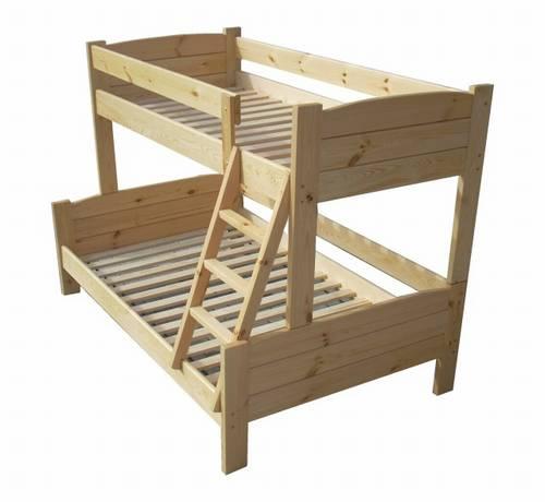 Dřevěná patrová postel z masivu LIDER chalup
