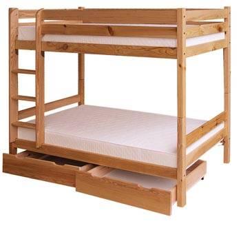 dřevěná patrová postel palanda z masivního dřeva borovice drewfilip 12