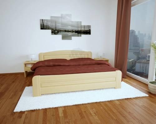 masivní dřevěná dvoulůžková postel Dona maršal