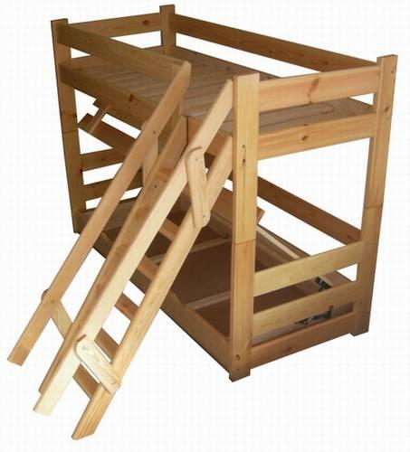 Dřevěná patrová postel z masivu Extremum chalup