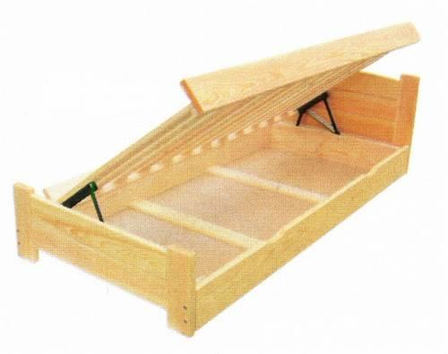 jednolůžková dřevěná postel s úložným prostorem Boomer chalup