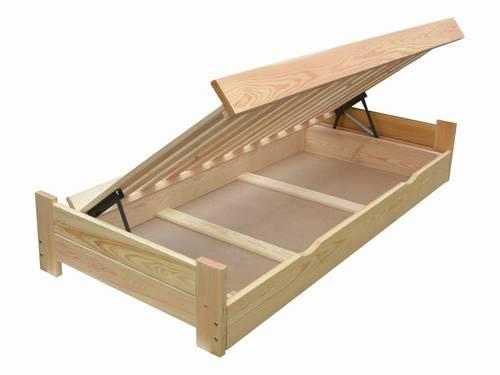 dvojlůžková dřevěná postel s úložným prostorem Champion chalup