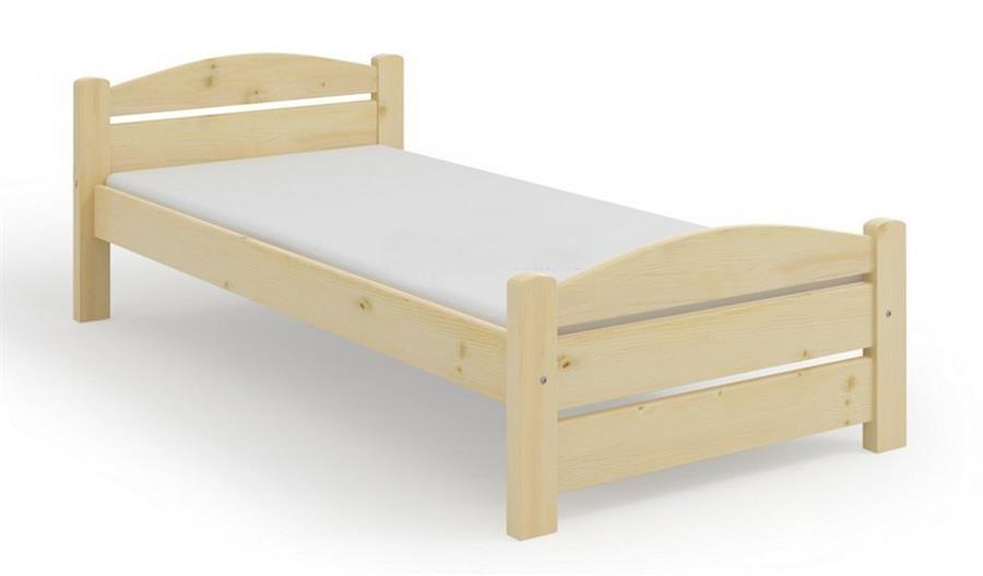 masivní dřevěná jednolůžková postel Kasia maršal