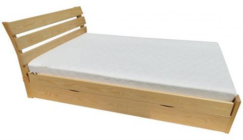 dvojlůžková dřevěná postel s úložným prostorem Eldorado chalup