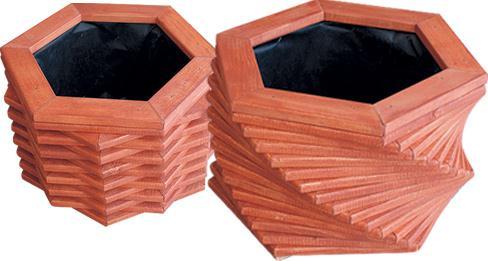 dřevěný zahradní květinový truhlík, květináč skrecana 54 drewfilip 84