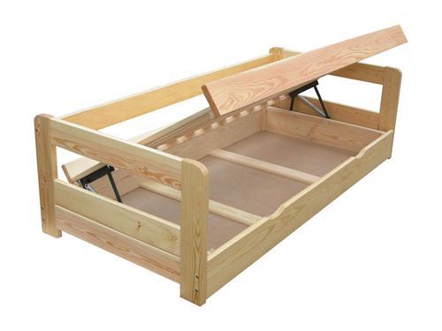 jednolůžková dřevěná postel s úložným prostorem Vision chalup