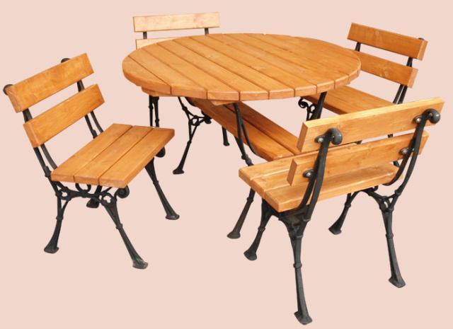 dřevěný zahradní nábytek set Kowal 1+4 drewfilip