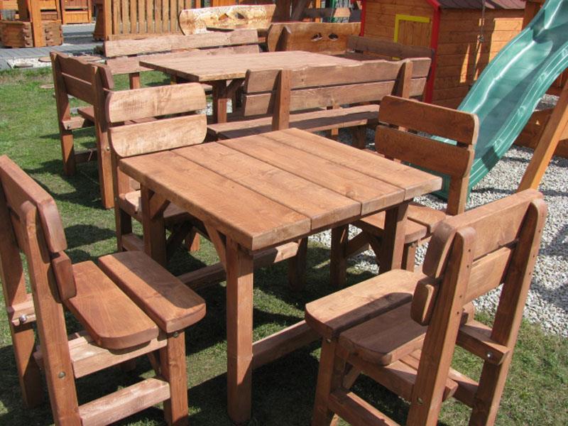 zahradní nábytek dřevěný set 1+4 Tomek 1 botodre