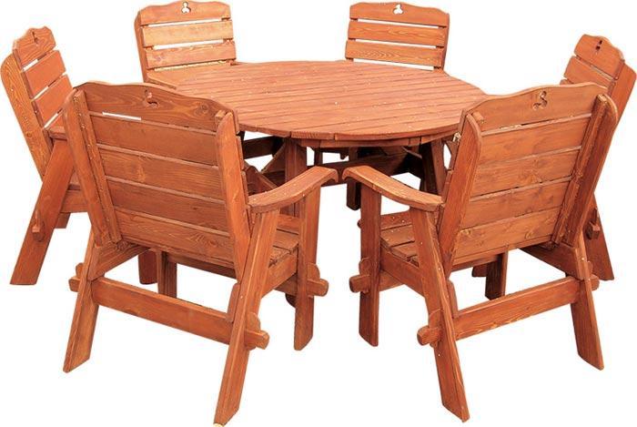 dřevěný zahradní nábytek set Jendrzej 1+6 drewfilip 28