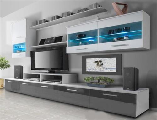 moderní obývací stěna z dřevotřísky Beta karol