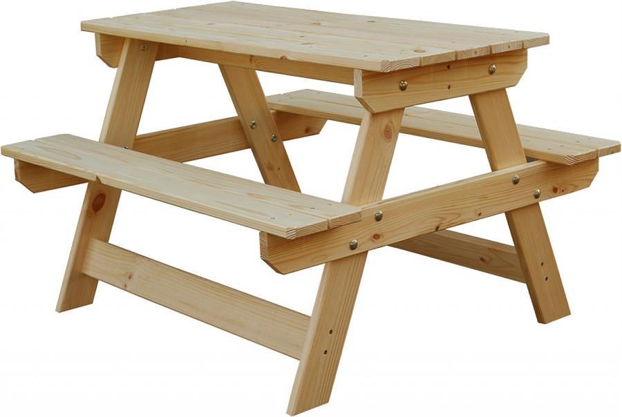 dětský zahradní nábytek dřevěný piknikový set mini andr