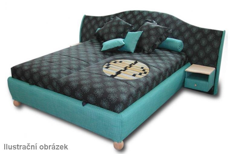 dvojlůžková čalouněná postel Hillary pol