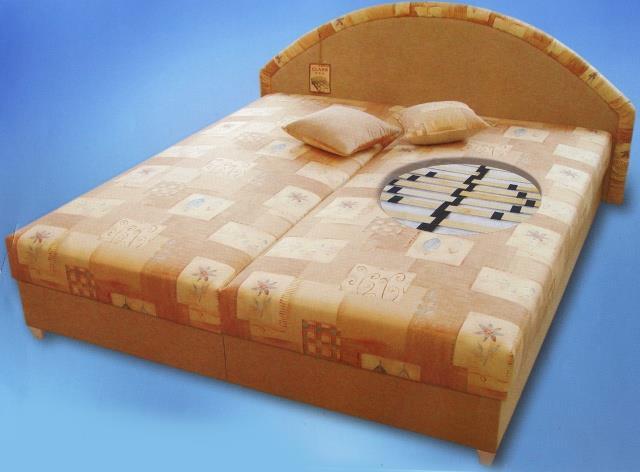 dvojlůžková čalouněná postel Radka pol