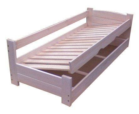 dvojlůžková dřevěná postel s úložným prostorem Heros chalup