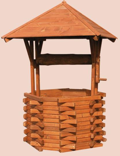 dřevěná zahradní dekorační studna velká drewfilip 60 pr.120