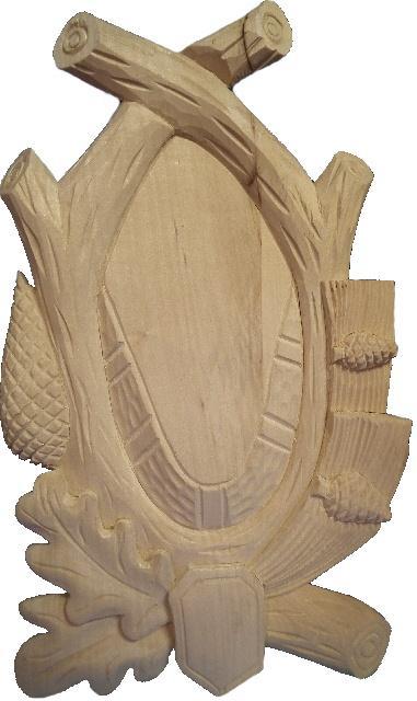 podložka pod trofej, dřevořezba 6 kryn