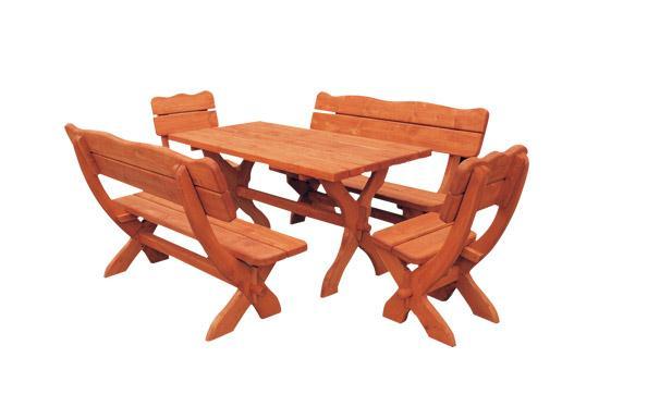 dřevěný zahradní nábytek set Bawarski 1+2+2 drewfilip 38