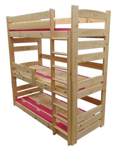 Dřevěná patrová postel z masivu Superior chalup