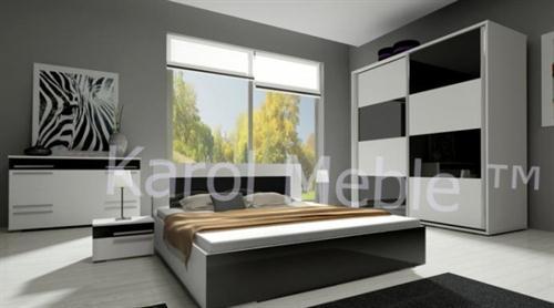 ložnicová sestava nábytku z dřevotřísky ložnice Hawana 2 lesk karol