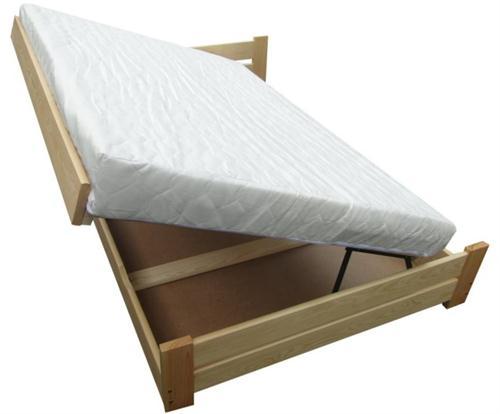 jednolůžková dřevěná postel s úložným prostorem Florencja chalup