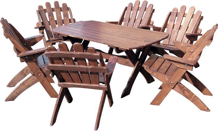 dřevěný zahradní nábytek set Skladany1+6 drewfilip 31