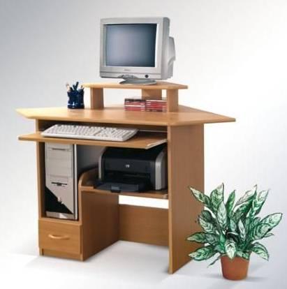 Laminátový psací a počítačový PC stůl rohový z dřevotřísky maride