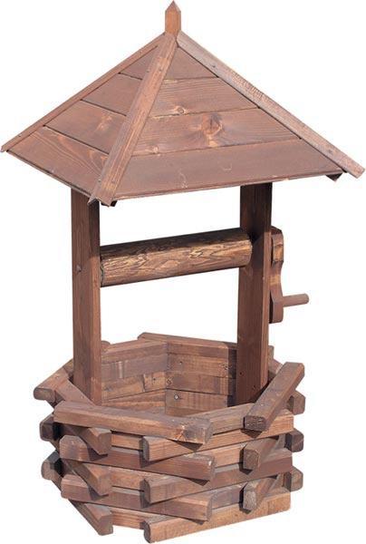 dřevěná zahradní dekorační studna malá drewfilip 61