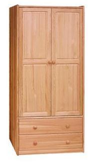 dřevěná šatní skříň dvojí dvířková z masivního dřeva borovice drewfilip 14