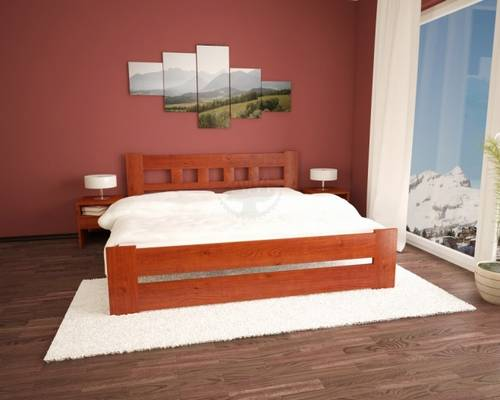 masivní dřevěná dvoulůžková postel Dominik maršal