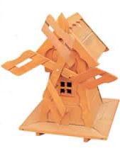dřevěný zahradní dekorační větrný mlýn drewfilip 70