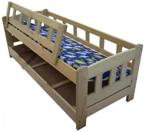 dětská jednolůžková dřevěná postel s úložným prostorem