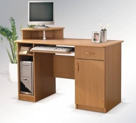 Laminátový psací a počítačový PC stůl z dřevotřísky Max bez nádstavce maride