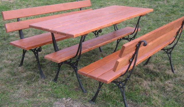 dřevěný zahradní nábytek set Kowal 1+2 drewbo