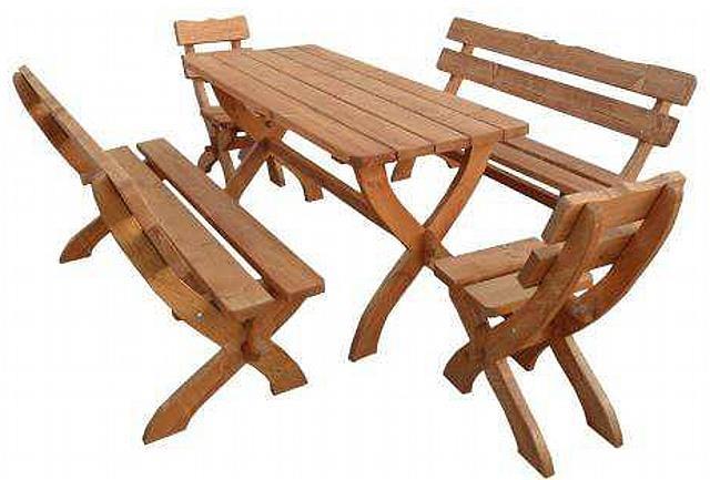 zahradní nábytek dřevěný 2+2+1 Zagloba trim