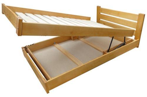 dvojlůžková dřevěná postel s úložným prostorem Gracja chalup