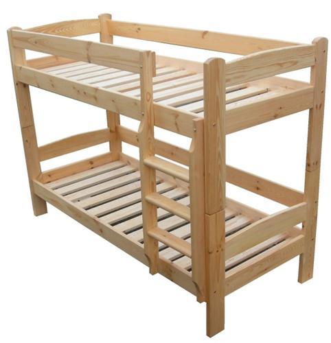 Dřevěná patrová postel z masivu Tytan chalup