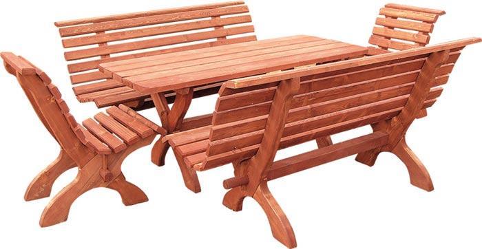 dřevěný zahradní nábytek set Parkowy 1+2+2 drewfilip 27