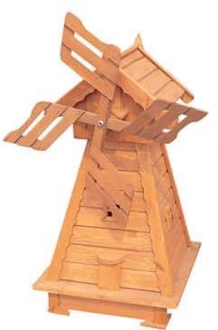 dřevěný zahradní dekorační větrný mlýn drewfilip 67 v150