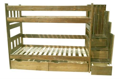 Dřevěná patrová postel z masivu Excelent chalup