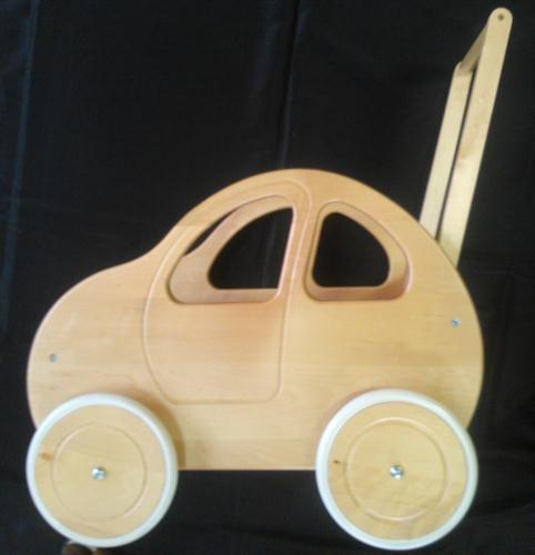 dětská dřevěná hračka dřevěný kočárek pro panenky autíčko elm