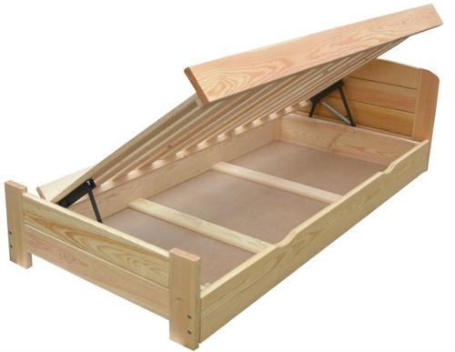 dvojlůžková dřevěná postel s úložným prostorem Rocky chalup