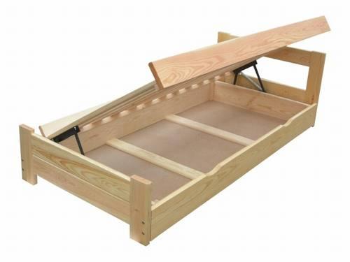 dvojlůžková dřevěná postel s úložným prostorem Sensation chalup