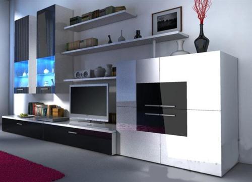 moderní obývací stěna z dřevotřísky Delta karol